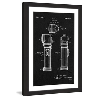 Marmont Hill - 'Flashlight 1923 Black Paper' by Steve King Framed Painting Print