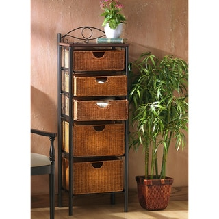 Upton Home Wicker 5-drawer Storage Unit