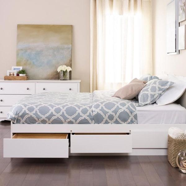 Full Double Platform Storage Bed, Yaletown Black Queen 6 Drawer Platform Storage Bed