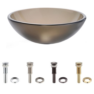 Kraus Brown Frosted Glass Vessel Sink