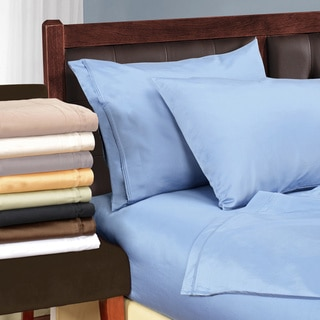 Superior Cotton 1500 Thread Count Solid Deep Pocket Sheet Set