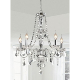 Chrome 5-light Crystal Chandelier