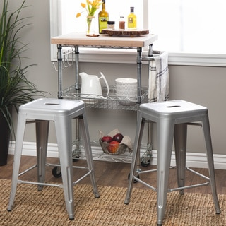Tabouret 24-inch Metal Counter Stools (Set of 2)