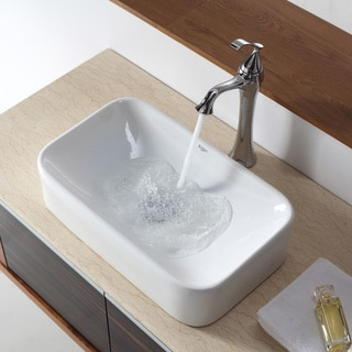 Kraus Rectangular Ceramic Lavatory Vessel Sink