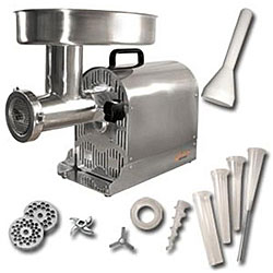 Pro-Series by Weston #22 Stainless Steel Electric Meat Grinder / Stuffer