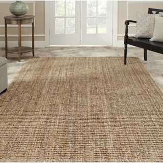 Safavieh Casual Natural Fiber Hand-Woven Natural Accents Chunky Thick Jute Rug (9' x 12')