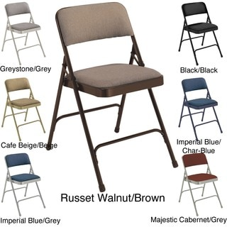 NPS Fabric Upholstered Premium Folding Chairs (Pack of 4)
