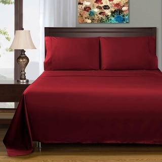 Superior Deep Pocket Cotton Sateen 400 Thread Count Solid Sheet Set