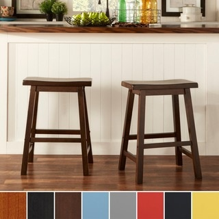 INSPIRE Q Salvador Saddle Back 24-inch Counter Height Stool (Set of 2)