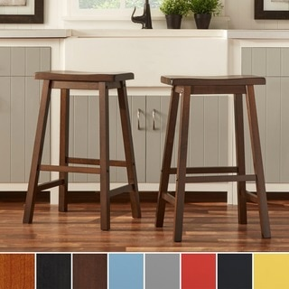 INSPIRE Q Salvador Set of 2 Saddle Back 29-inch Counter Height Stools