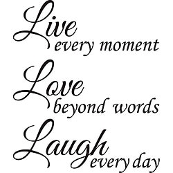 Design on Style 'Live Love Laugh' Vinyl Wall Art Quote