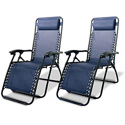 Caravan Canopy Blue Zero-Gravity Chairs (Pack of Two)