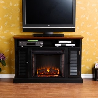 Upton Home Herschel Black Media Console Fireplace