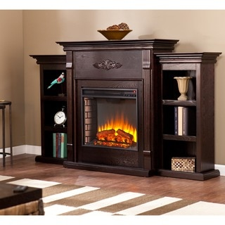 Upton Home Dublin 70-inch Espresso Electric Fireplace