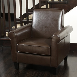 Christopher Knight Home Freemont Brown Bonded Leather Club Chair