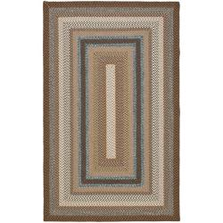 Safavieh Hand-woven Country Living Reversible Brown Braided Rug (6' x 9')