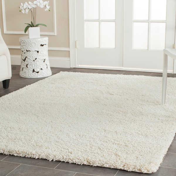 Safavieh California Cozy Solid Ivory Shag Rug (8' x 10') - 13650958 -  greatofferstock.com Shopping - Great Deals on Safavieh 7x9 - 10x14 Rugs