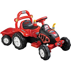 Lil' Rider The King Tractor and Trailer Battery Operated Ride-on