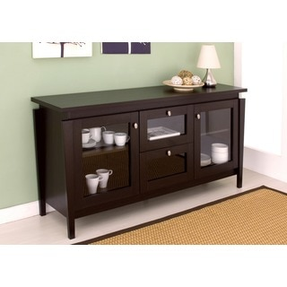 Furniture of America Benston Coffee Bean Buffet Cabinet