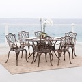 Christopher Knight Home Haitian Outdoor Cast Aluminum 7-piece Dining Set
