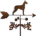 Handmade Great Dane Dog Copper Weathervane