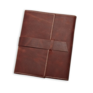 Refillable Dark Brown Cruelty-Free Leather Journal with Handmade Paper (India)