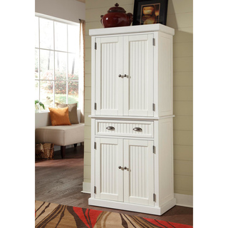 Home Styles Nantucket White Distressed Finish Pantry