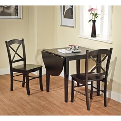 Simple Living Black 3-piece Country Cottage Dining Set