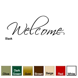 'Welcome' Vinyl Wall Art Decal