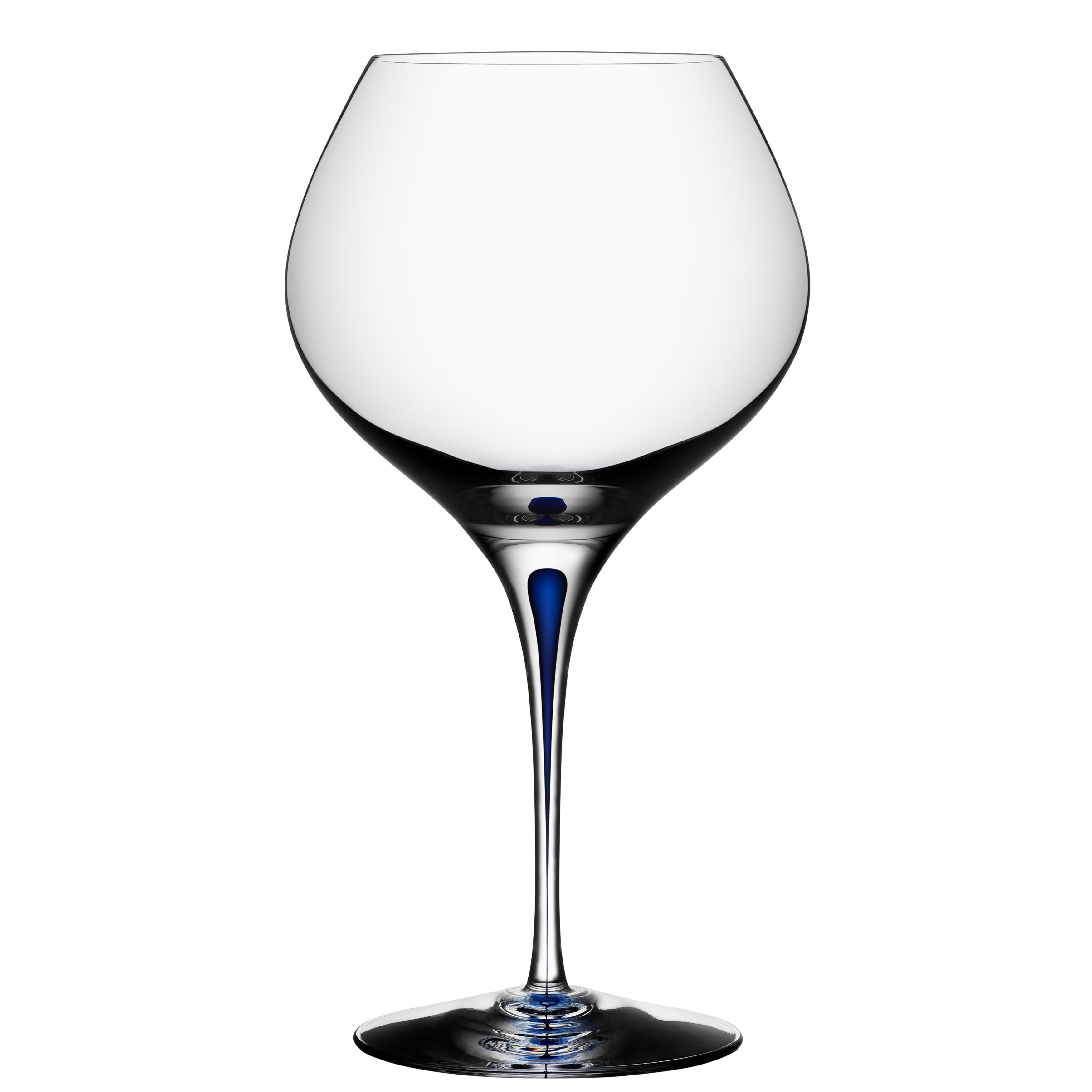 Orrefors Intermezzo Blue Bouquet Wine Glass