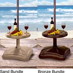 Shademobile Rolling Umbrella Base with Table Shelf