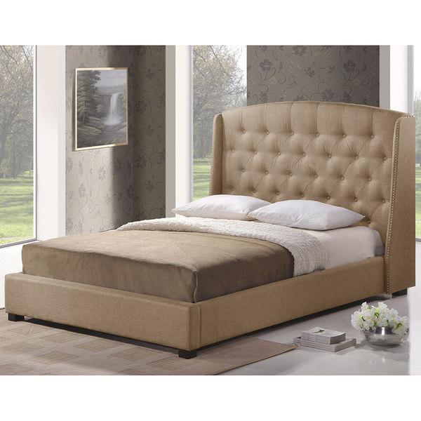 Ipswich Beige Linen Modern Platform Bed 14708510 Greatofferstock Com Shopping Great Deals On Baxton Studio Beds