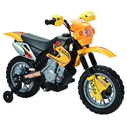 Dirt Bike Yellow 6 Volt Battery Operated Ride-on
