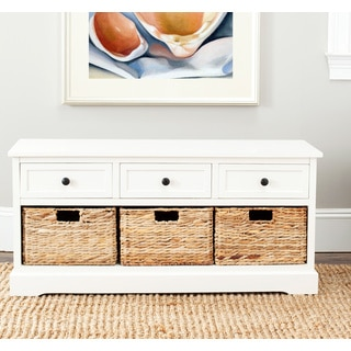 Safavieh Damien Cream 3-drawer Storage Bench