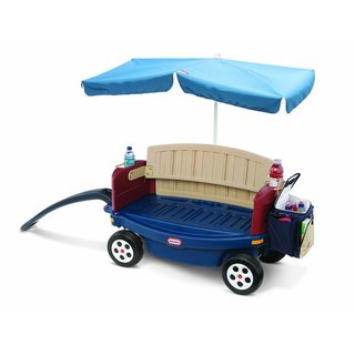 Little Tikes Deluxe Ride & Relax Wagon with Umbrella & Cooler