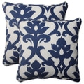 Pillow Perfect Navy Outdoor Corded 18.5-Inch Throw Pillows (Set of 2)