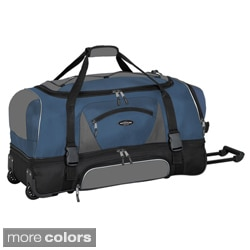 Traveler's Club Adventurer Duffel Collection 36-inch 2-section Drop Bottom Rolling Duffel