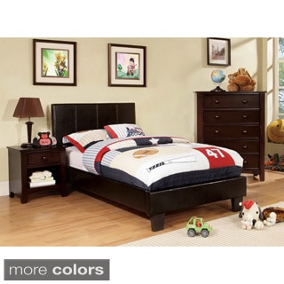 Furniture of America Kutty Modern Twin Size Padded Leatherette Platform Bed