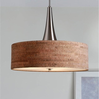 Bachman 22-inch Brushed Steel/ Cork Pendant