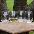 Tipsy Collection Stemless Wine Glasses (Set of 4)