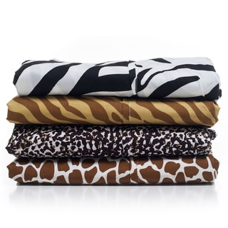 Windsor Microfiber Animal Print 4-piece Sheet Set