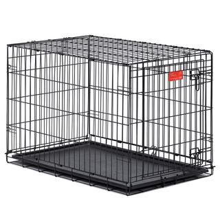 Midwest Life Stages Single-door Folding Metal Dog Crate