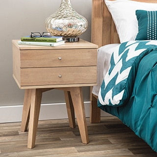 Jones Birch Two Drawer Nightstand
