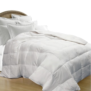 All Season Oversize White Goose Down Blend Comforter