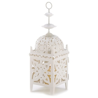 Zingz & Thingz White Medallion Candle Lantern