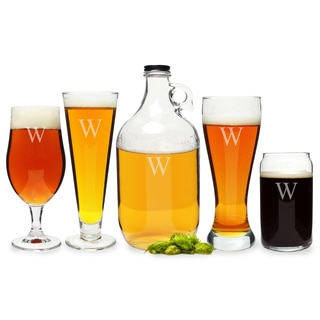 Personalized Craft Beer 5-piece Party Glassware Set