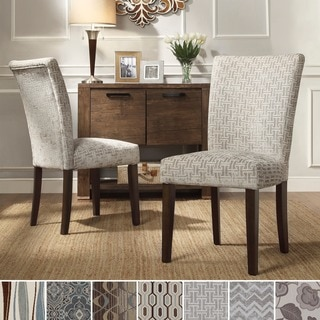 INSPIRE Q Catherine Print Parsons Dining Side Chair (Set of 2)