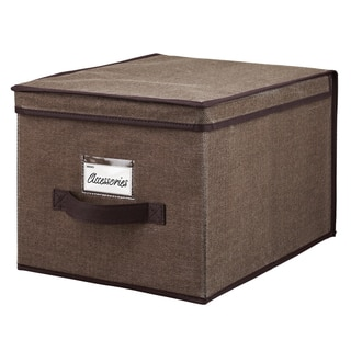 Kennedy Home Collection Espresso Large Storage Box