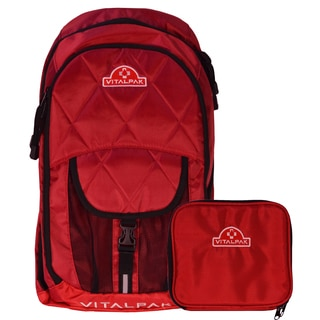 VitalPak Medical Backpack with Removable Snap-in Essentials Kit (Red)