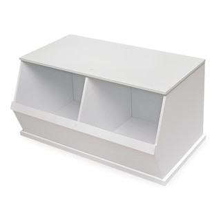 Badger Basket White Two Bin Storage Cubby